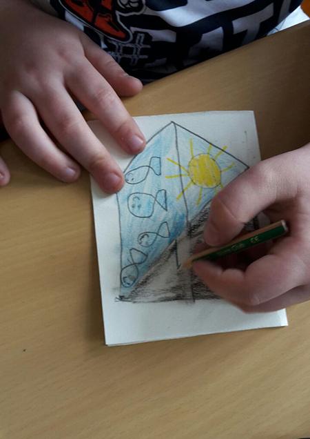 Zeichnende Hand